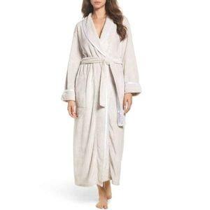 Natori Velour Fleece Robe SIZE XL Ash Gray NWT